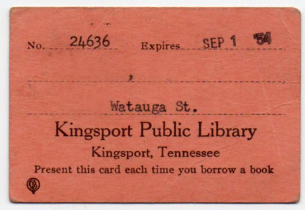 September 2017 bob lawrences kingsport in 1954 the library was co located with city hall in the old ymca building on the corner of shelby and center this card ive removed the name and the reheart Image collections